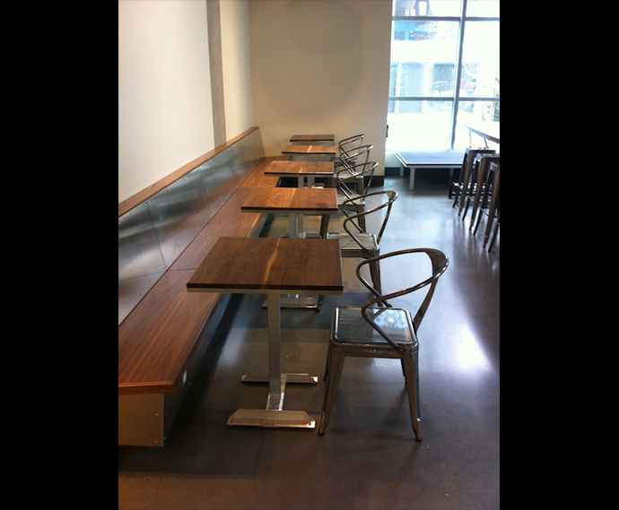 7 cafe tables, 1321 Mission, SF