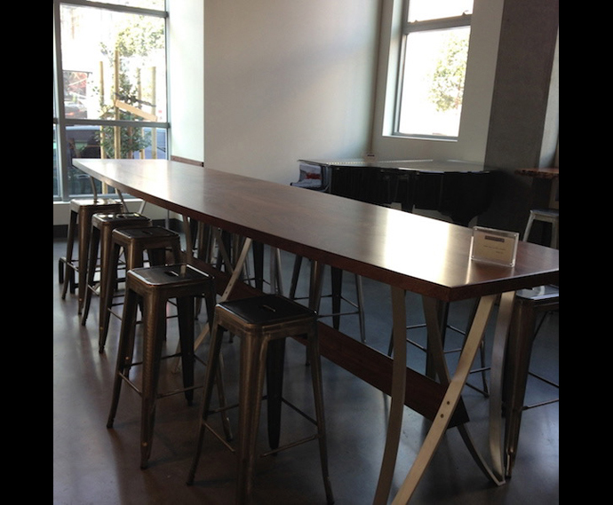 8 gathering table, 1321 Mission, SF 2